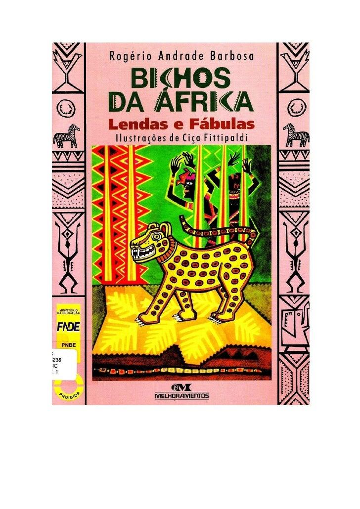 Livro   bichos da áfrica
