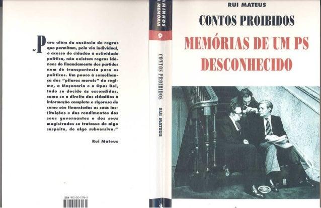 CONTOS PROIBIDOS MEMÓRIAS DE UM PS DESCONHECIDO