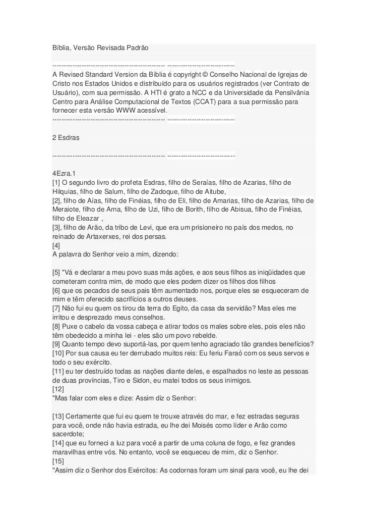 Bíblia, Versão Revisada Padrão-------------------------------------------------- ------------------------------A Revised S...