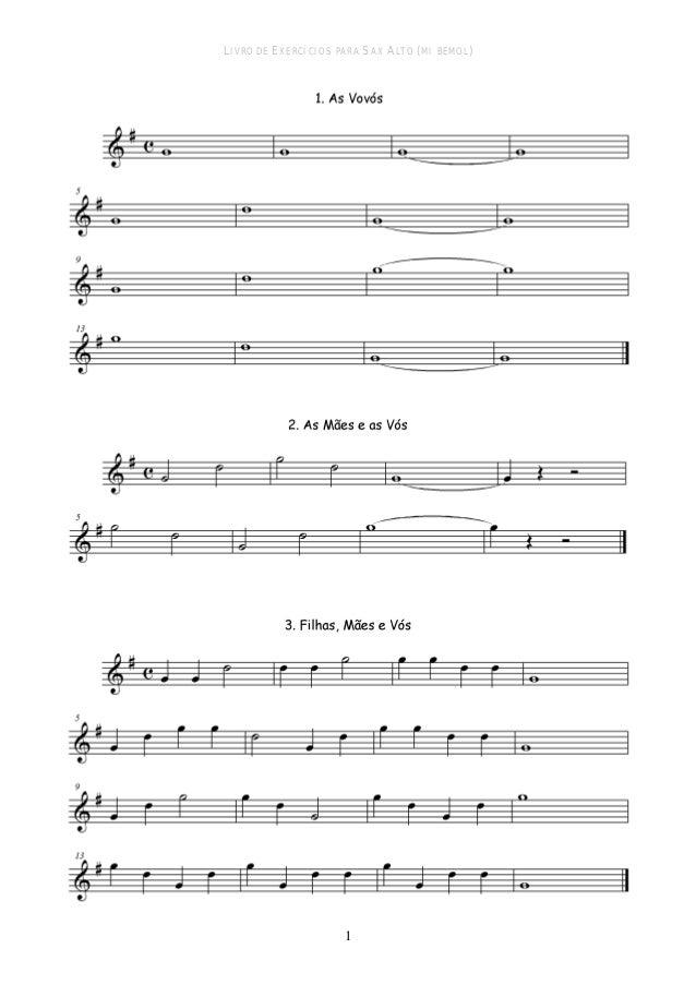 Livro de exercícios para saxofone Slide 3