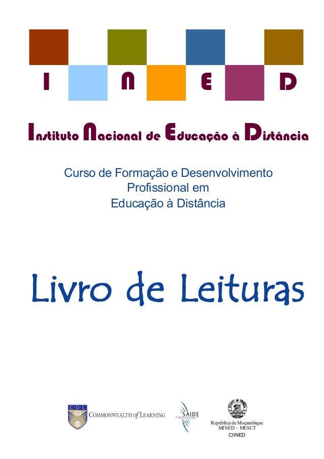 I            N            E                           DInstituto Nacional de Educação à Distância      Curso de Formação e...