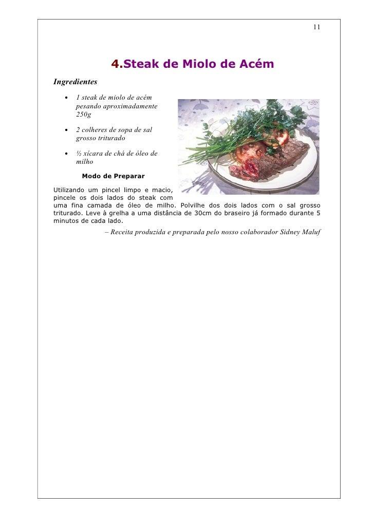 Livro de receita para churrasco
