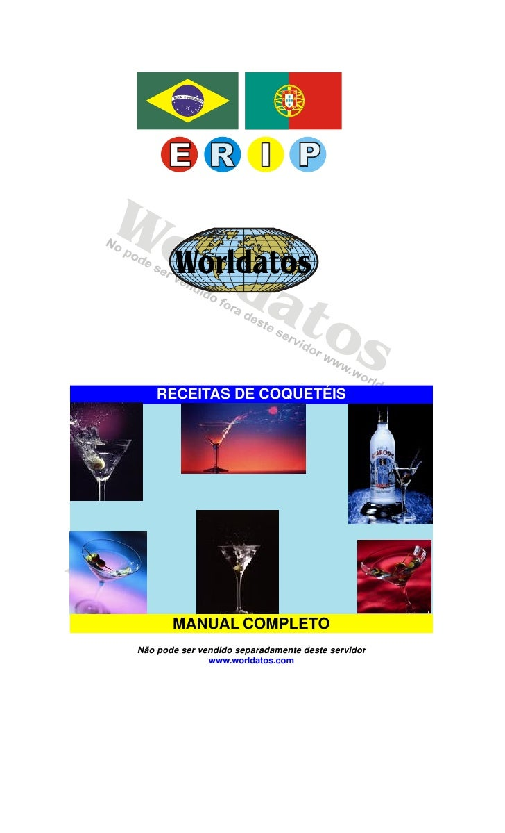 Worldatos     Wo    rld   Worldatos         at             o                                  s      RECEITAS DE COQUETÉIS...