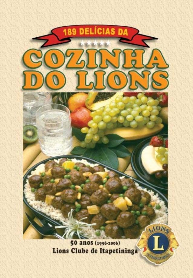 189 Delícias da COZINHA DO LIONS LIONS CLUBE DE ITAPETININGA