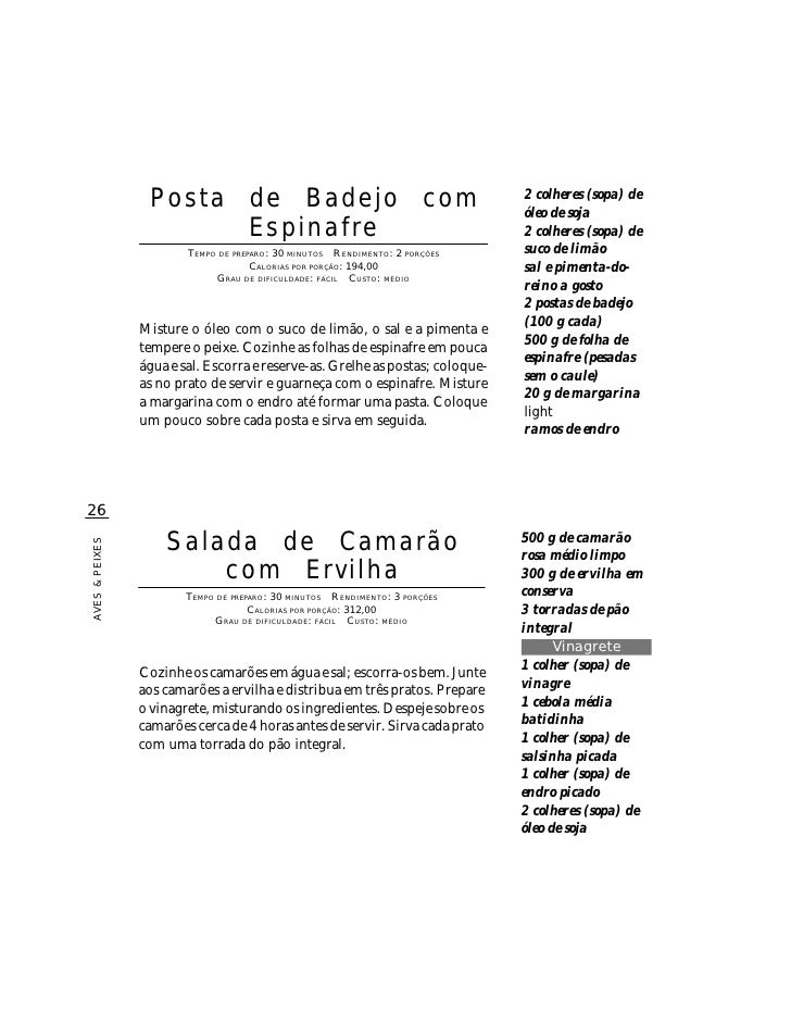 Posta de Badejo com                                           2 colheres (sopa) de                                        ...