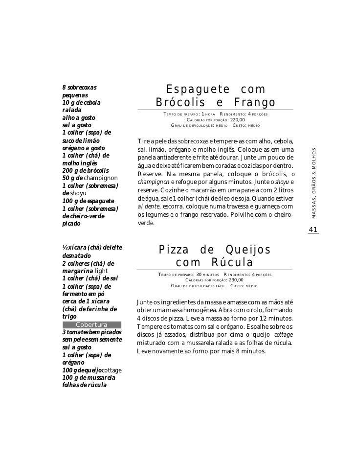 Livro De Receitas Diet Marco Zero