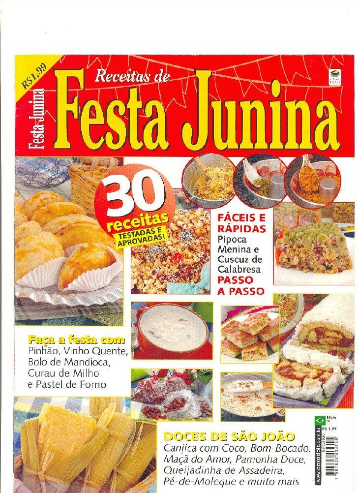 Livro De Receitas E Festa Junina