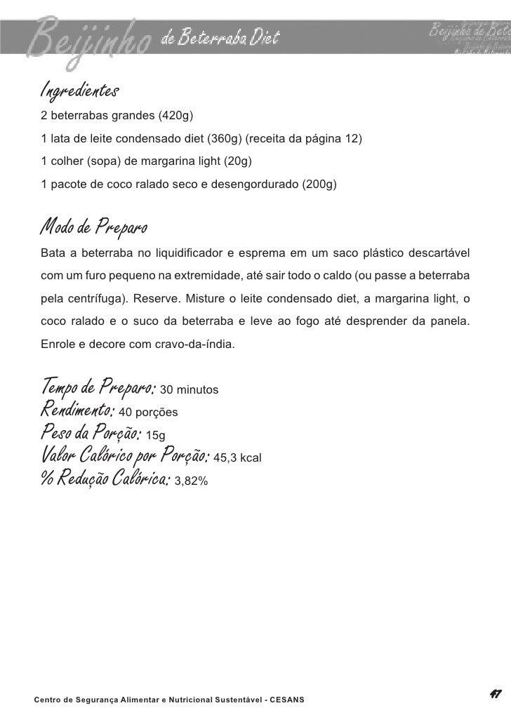 Livro de receitas manual diet for Manual tecnicas culinarias