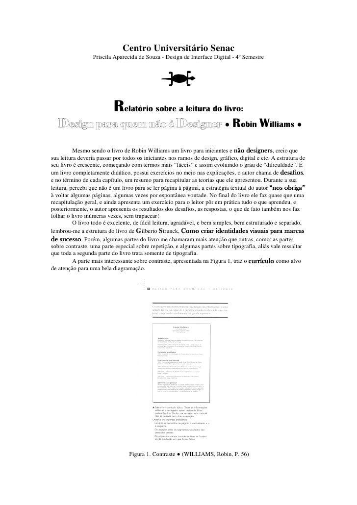 Centro Universitário Senac                  Priscila Aparecida de Souza - Design de Interface Digital - 4º Semestre       ...