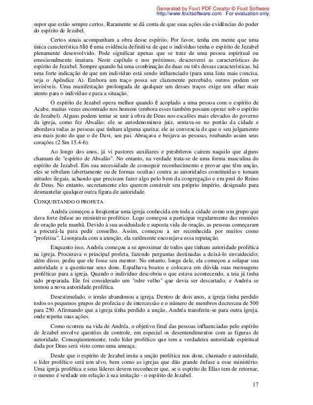 JEZABEL BAIXAR DESMASCARANDO O ESPIRITO DE