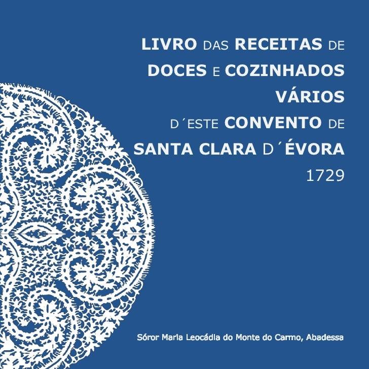 LIVRO          DAS    RECEITAS              DE  DOCES          E   COZINHADOS                                VÁRIOS       ...