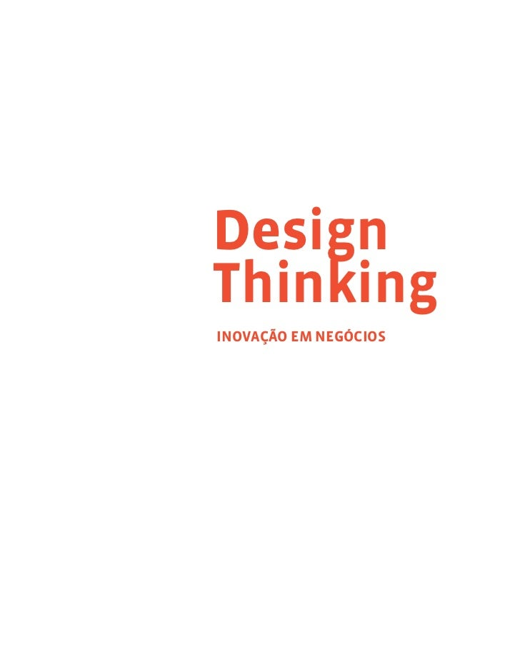 Livro Design Thinking, Inovação em Negócios Slide 2