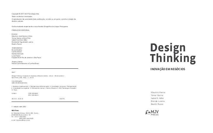 Livro Design Thinking, Inovação em Negócios Slide 3