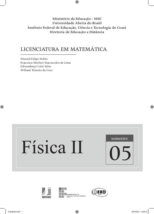 Ministério da Educação - MEC Universidade Aberta do Brasil Instituto Federal de Educação, Ciência e Tecnologia do Ceará Di...