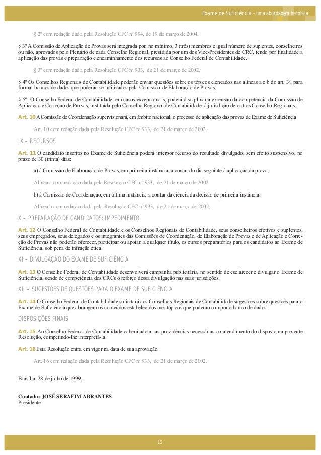 Exame suficiencia crc 2015