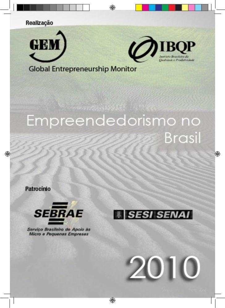 Empreendedorismo no Brasil 2010                                  1