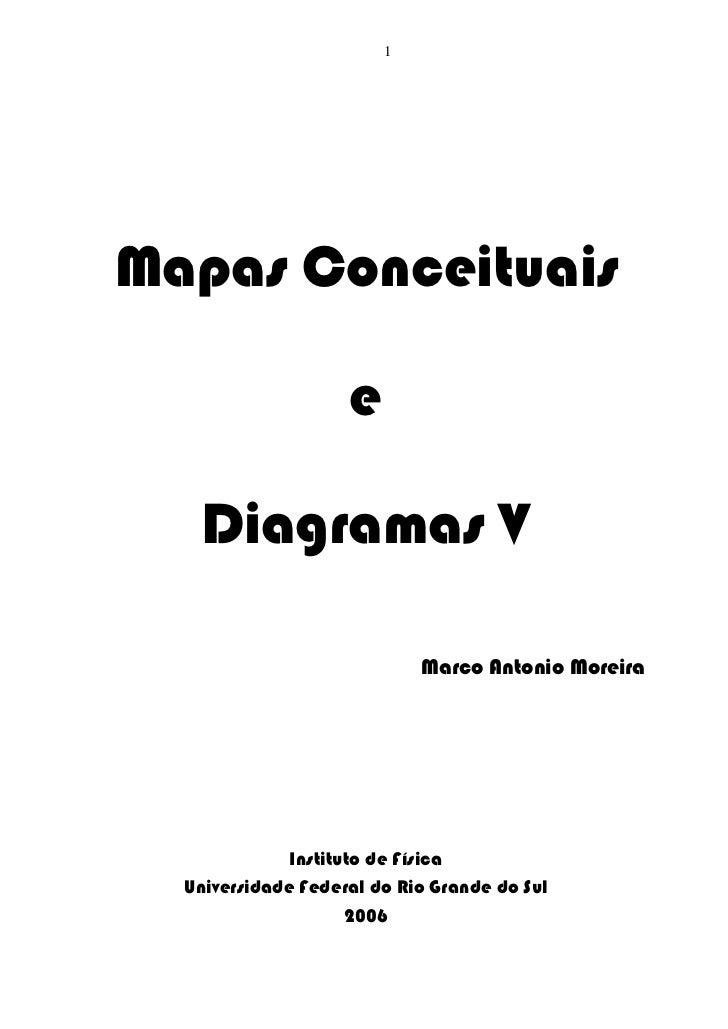 1Mapas Conceituais                    e   Diagramas V                            Marco Antonio Moreira              Instit...