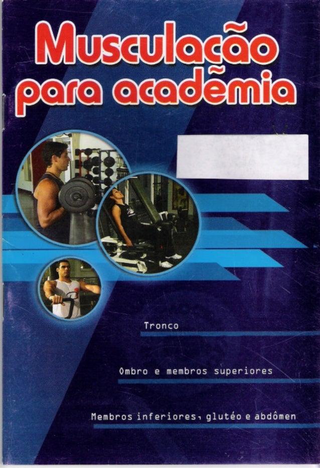 Livro musculação para academia