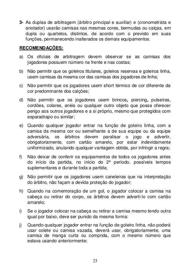Livro Nacional de Regras Futsal 2013 fa6e9f849a330