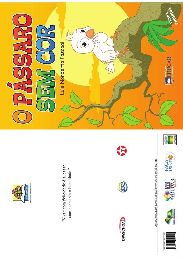 Livro Pássaro Sem Cor