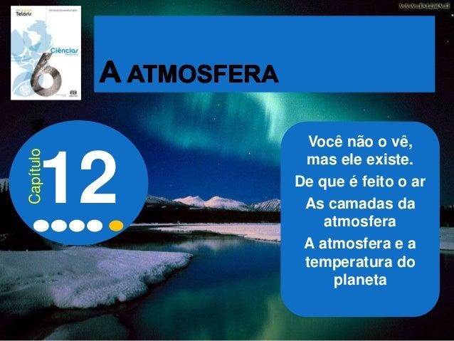 Você não o vê, mas ele existe. De que é feito o ar As camadas da atmosfera A atmosfera e a temperatura do planeta 12 Capít...