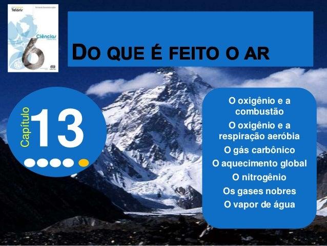 O oxigênio e a combustão O oxigênio e a respiração aeróbia O gás carbônico O aquecimento global O nitrogênio Os gases nobr...