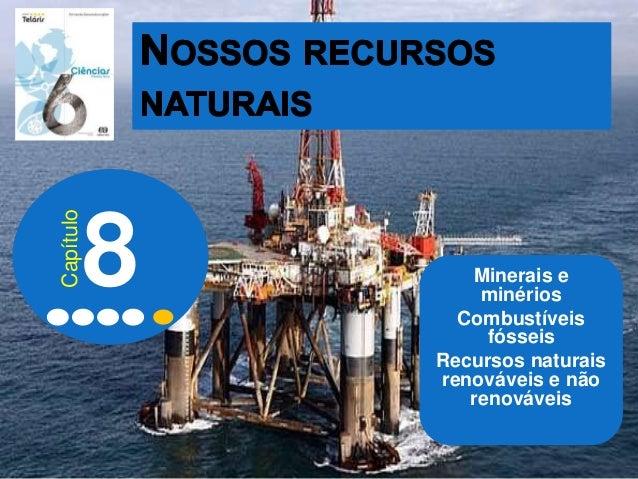 Minerais e minérios Combustíveis fósseis Recursos naturais renováveis e não renováveis 8 Capítulo