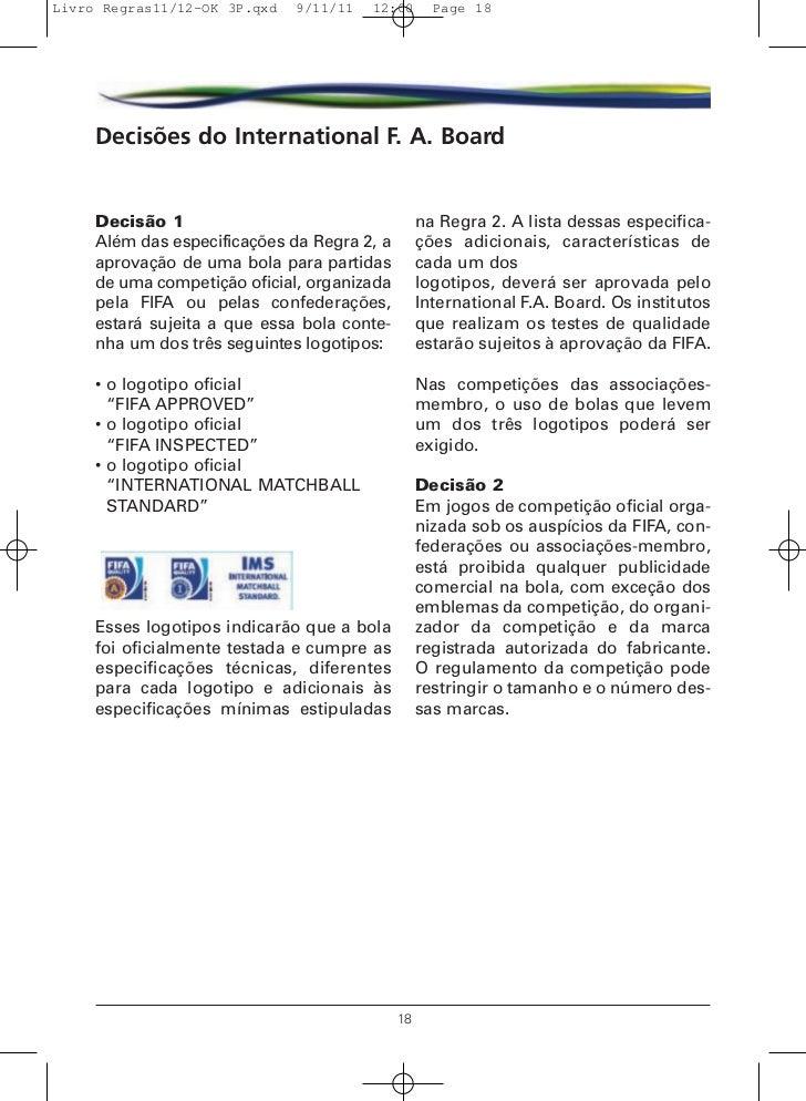 Livro de Regras 2012 - Futebol 19c3c224bb4bc