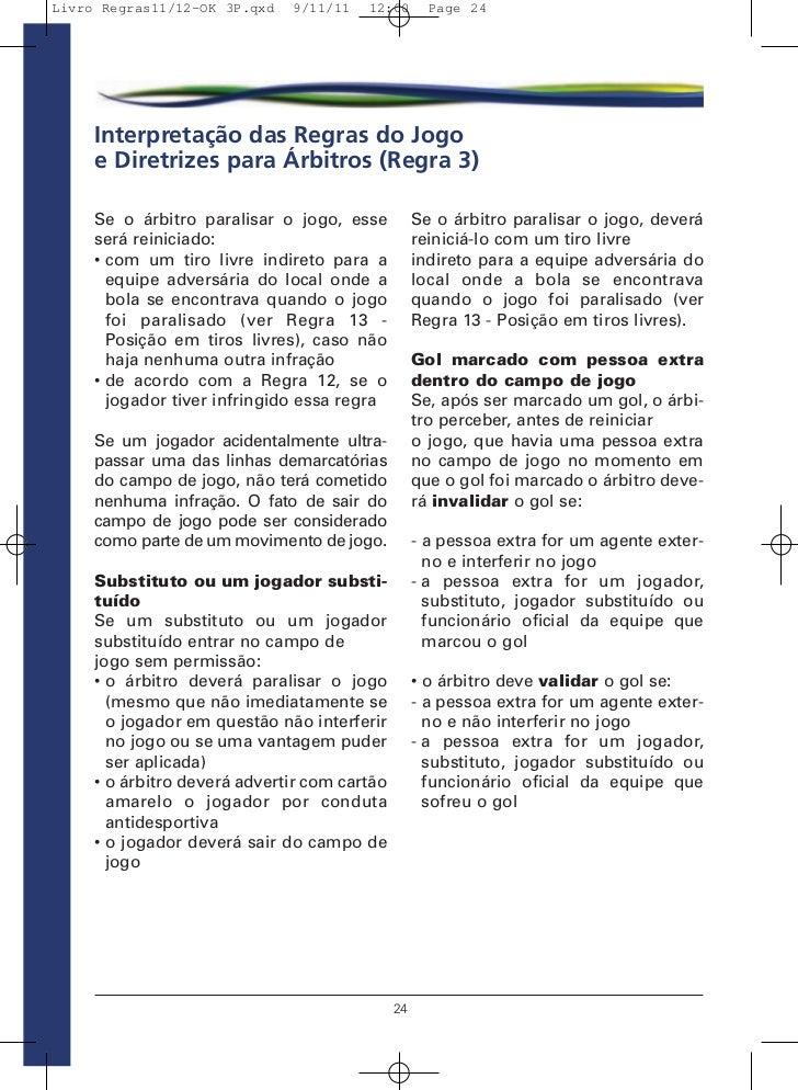 202ae11eb522c Livro de Regras 2012 - Futebol