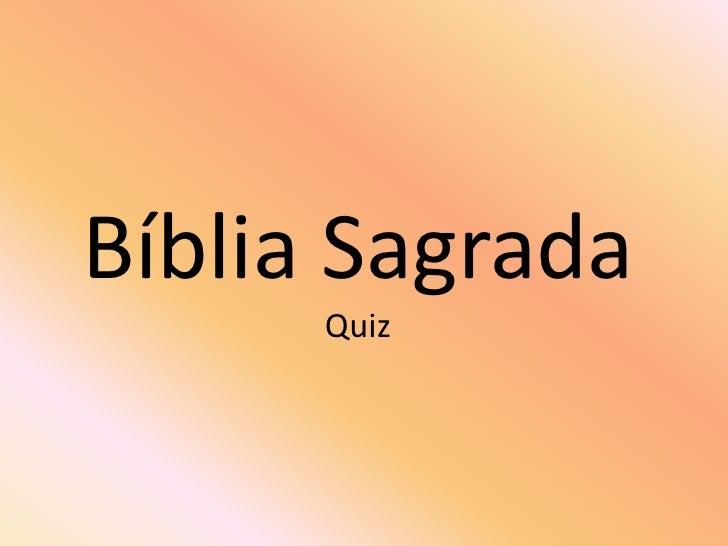 Bíblia SagradaQuiz<br />