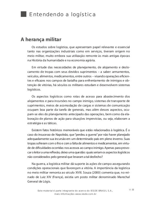 Livro logistica empresarial 13 entendendo a logstica fandeluxe Choice Image