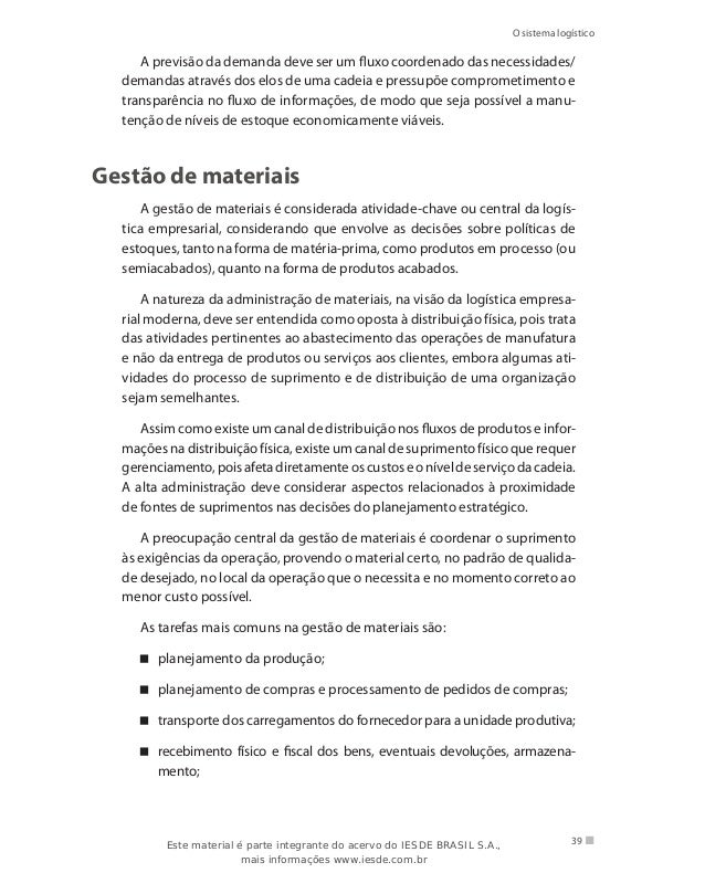 Livro logistica empresarial 41 o sistema logstico fandeluxe Choice Image