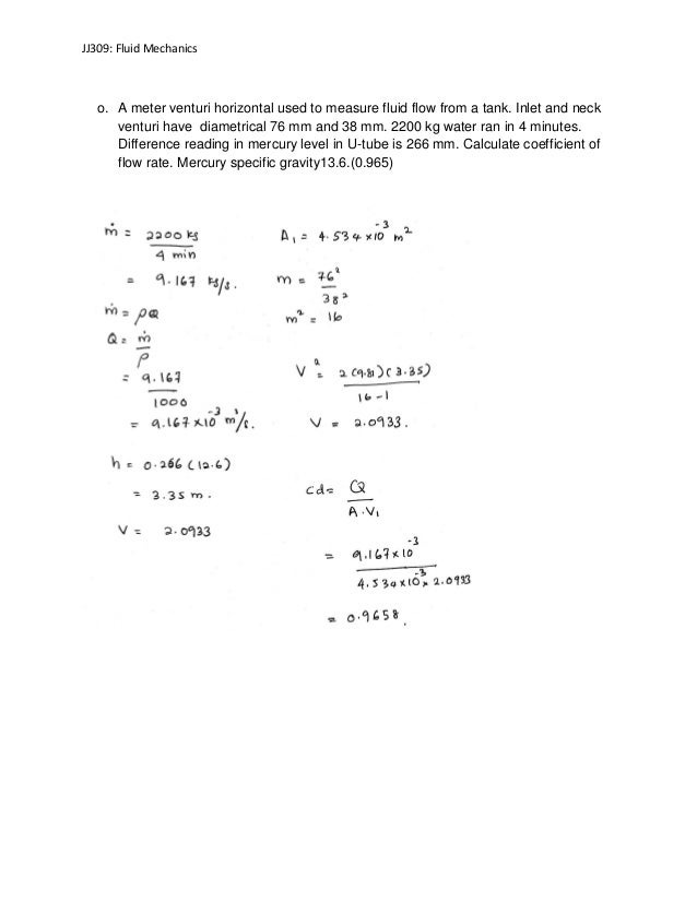 Liza Anna Jj309 Fluid Mechanics Buku Kerja