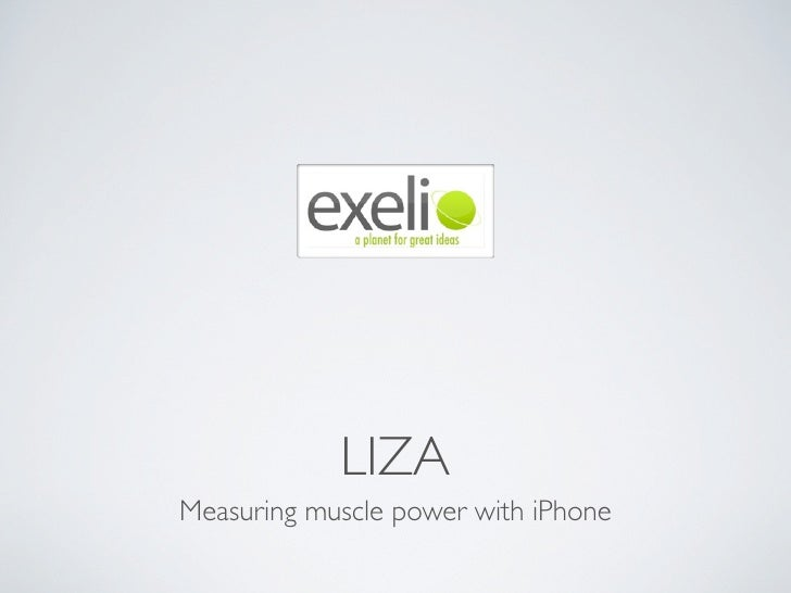 LIZA Measuring muscle power with iPhone