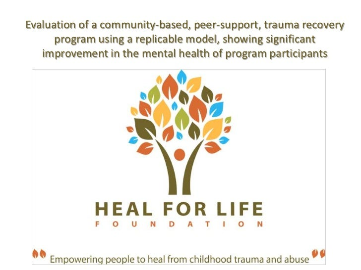 Evaluation of a community-based, peer-support, trauma recovery program using a replicable model, showing significant impro...