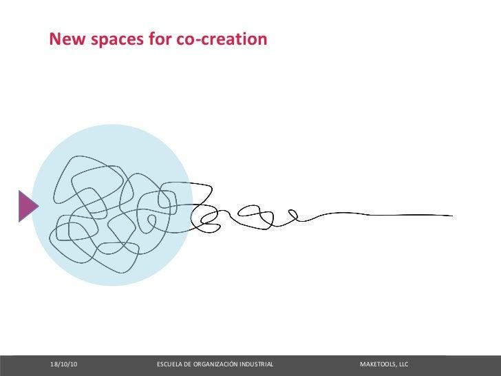 Newspacesforco‐creation     18/10/10ESCUELADEORGANIZACIÓNINDUSTRI...