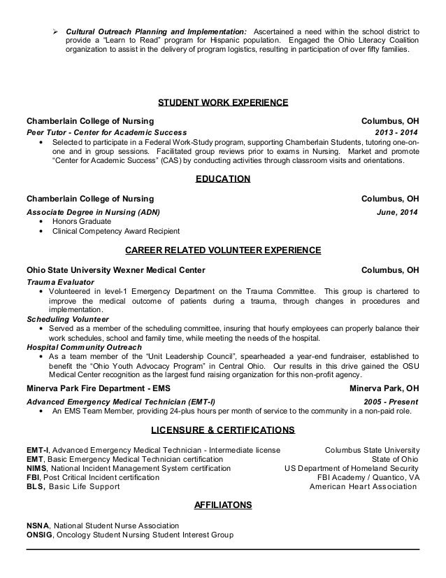Stetz Nursing Resume