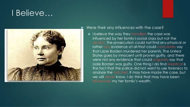 Lizzie Borden Exonerated – my thesis