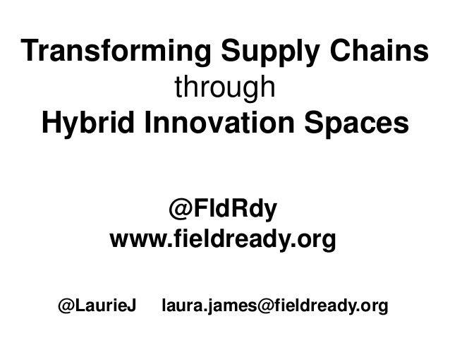 Transforming Supply Chains through Hybrid Innovation Spaces @FldRdy www.fieldready.org @LaurieJ laura.james@fieldready.org