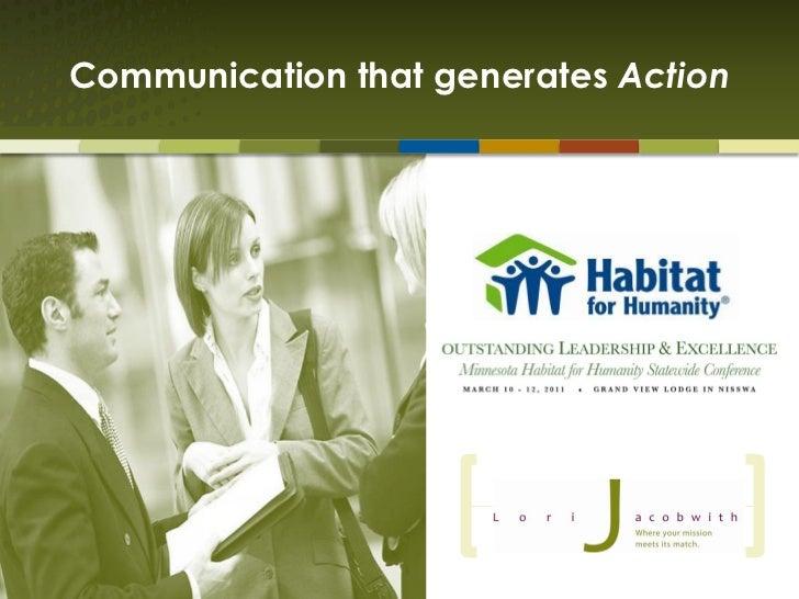 Communication that generates Action