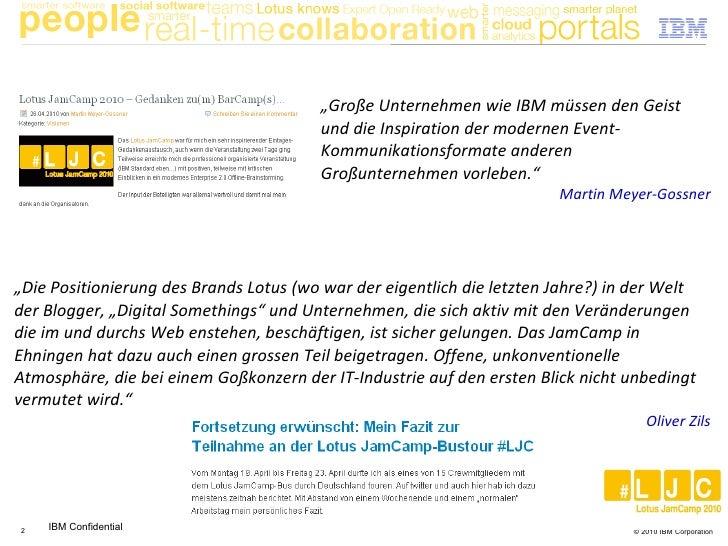 IBM Lotus JamCamp in Social Media (und traditionellen Medien) Slide 2