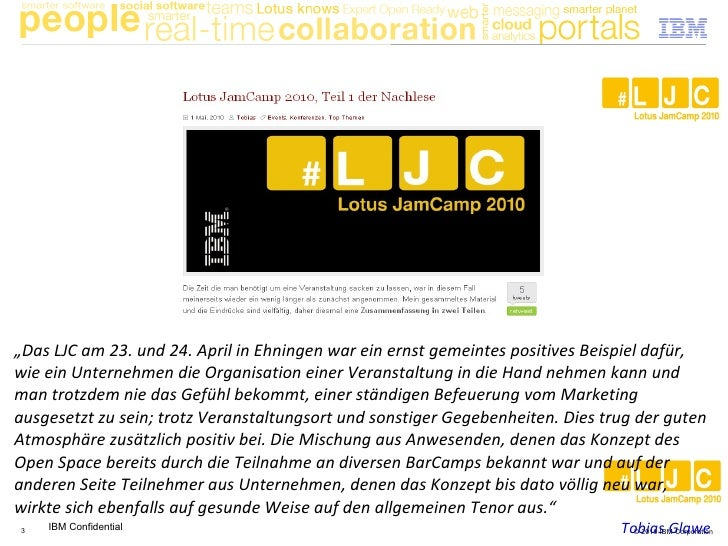 IBM Lotus JamCamp in Social Media (und traditionellen Medien) Slide 3