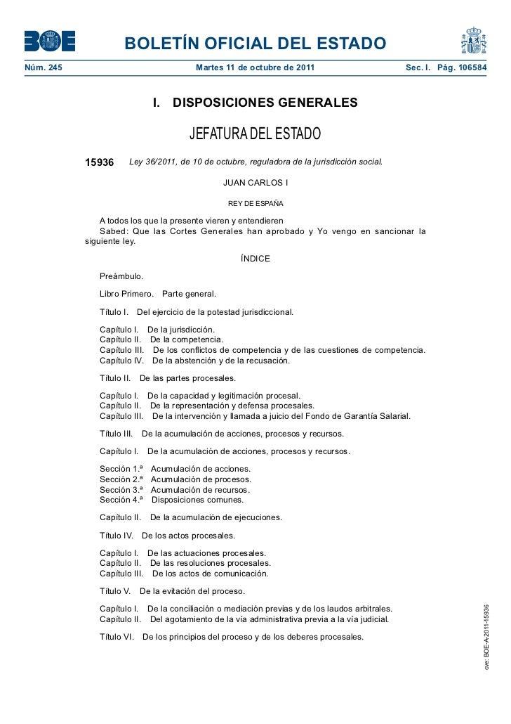 BOLETÍN OFICIAL DEL ESTADONúm. 245                                 Martes 11 de octubre de 2011                         ...