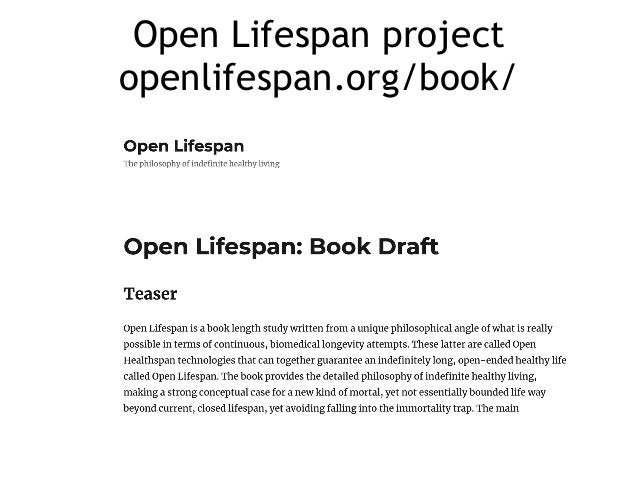 Open Lifespan project openlifespan.org/book/