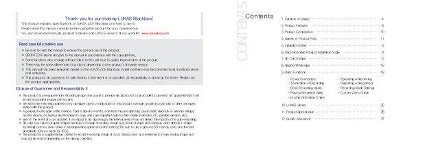Lukas LK-7900 FHD ACE English User Manual Slide 2