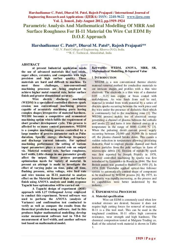 Harshadkumar C. Patel, Dhaval M. Patel, Rajesh Prajapati / International Journal of    Engineering Research and Applicatio...