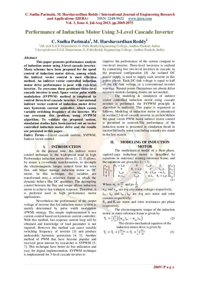 C. Sudha Parimala, M. Harshavardhan Reddy / International Journal of Engineering Research and Applications (IJERA) ISSN: 2...