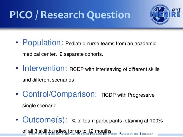 • Population: Pediatric nurse teams from an academic medical center. 2 separate cohorts. • Intervention: RCDP with interle...