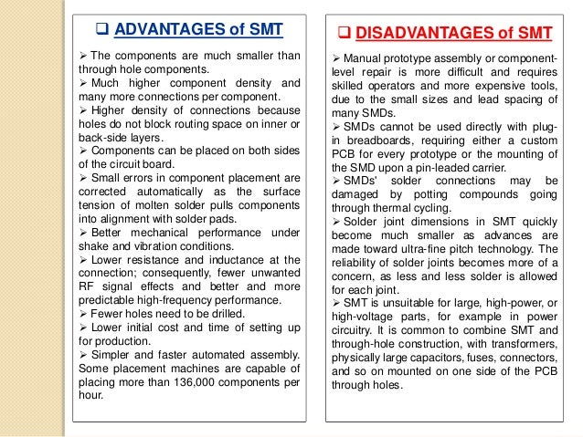 Project Report on SMT and through-hole technology