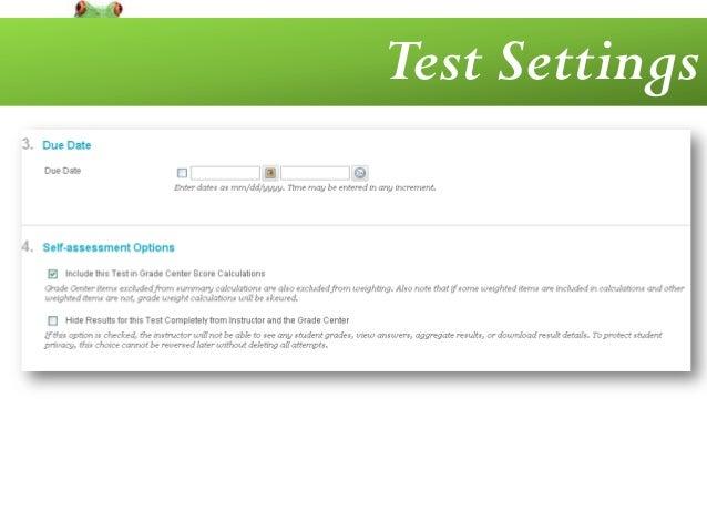 Deploying a test in Blackboard™ 9 - YouTube